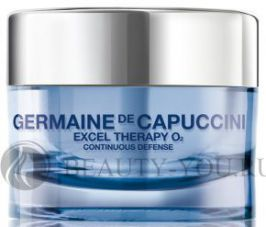 Excel Therapy O2 Continuous Defense Cream Крем восстанавливающий для лица 50 ml (Germaine de Capuccini) 81104
